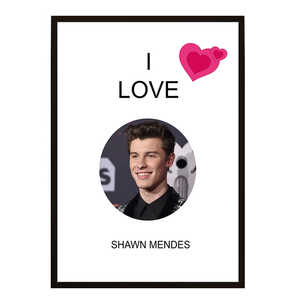 Poster - I Love Shawn Mendes No.2 30x40cm