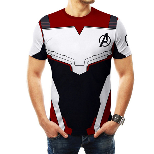 Hot men women the avengers 4 superhero 3d short sleeve t-shirt c