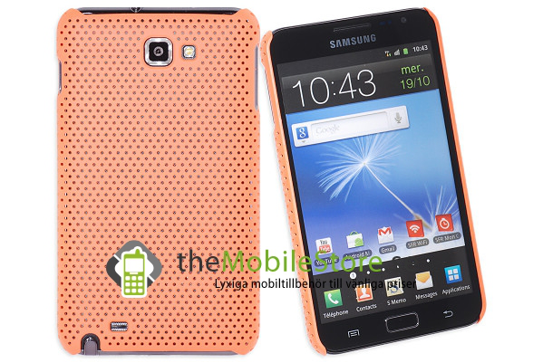 Mesh baksideskal till samsung galaxy note (orange)