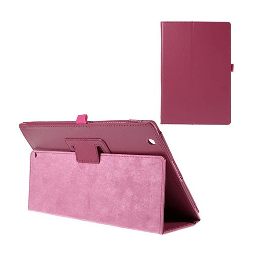Gaarder sony xperia z4 tablet leather case with stand – hot pink