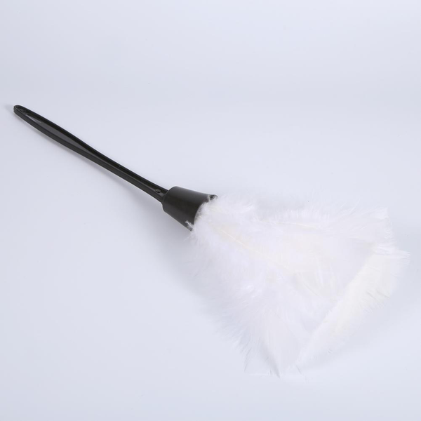 Soft turkey feather duster brush with black handle home furn