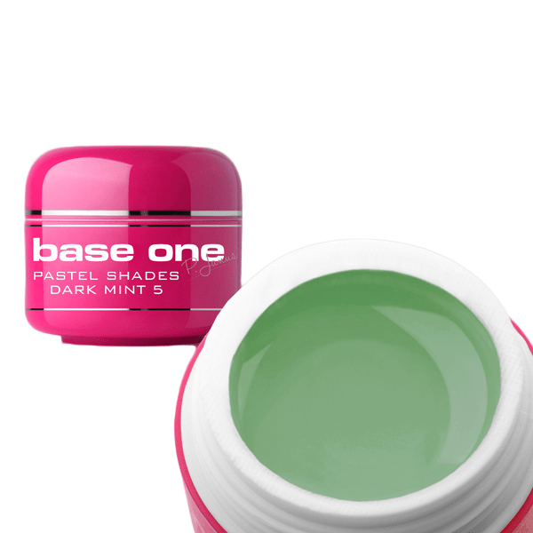 Base one – uv gel – pastel shades – dark mint – 05 – 5 gram