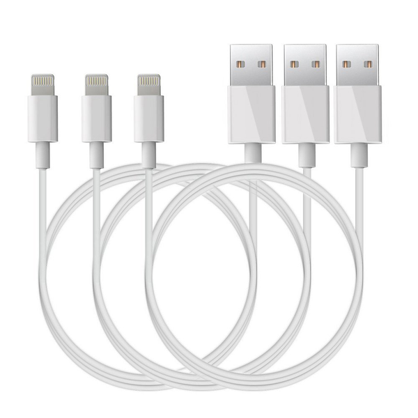 3 pack 1 Meter Lightning laddare iPhone X876S65SSE iOS12