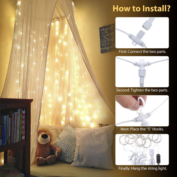 Solmore 0603 silver curtain light chain [energy class a+]