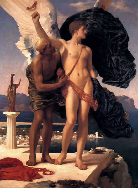 Daedalus and Icarus,Lord Fröderic Leighton,50x40cm