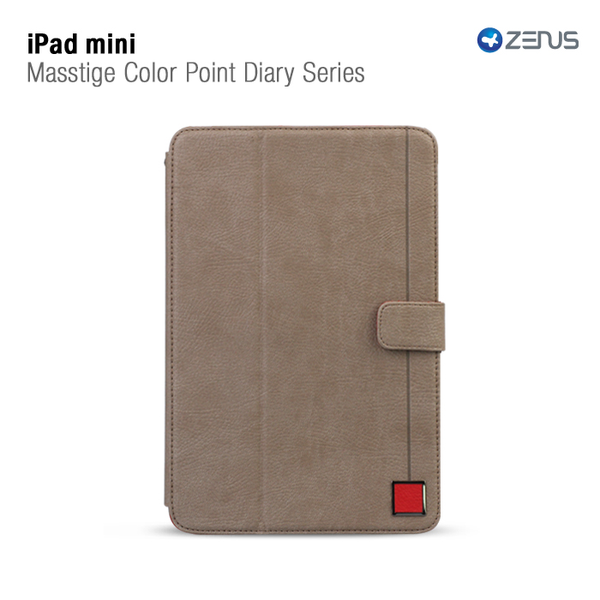Zenus masstige color point folio till apple ipad mini (grå)