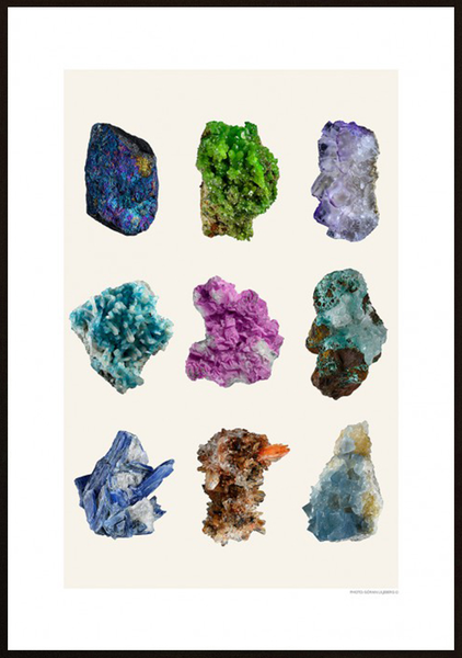 Poster - Mineral kollage 30x40cm