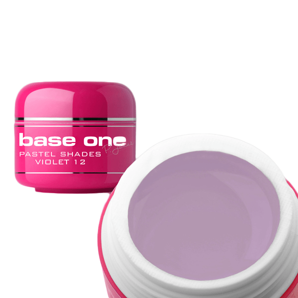 Base one – uv gel – pastel shades – violet – 12 – 5 gram