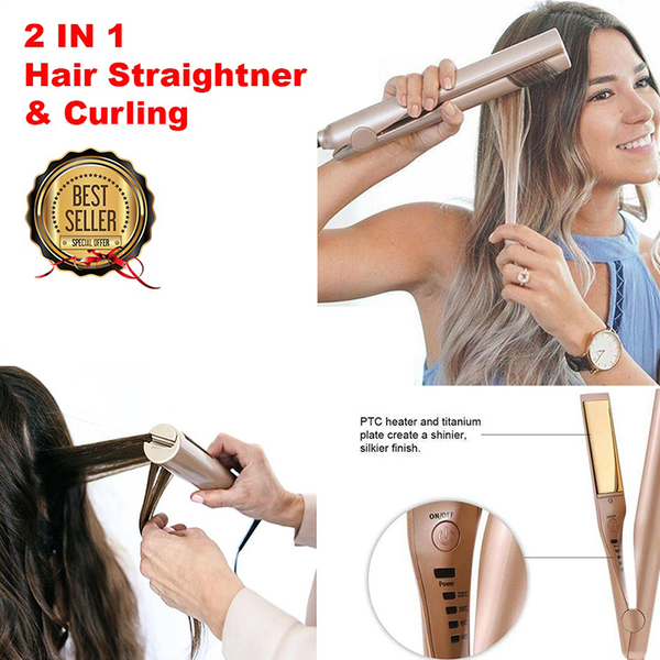 2 in 1 mestra iron pro hair straightener curling hair iron 2 in