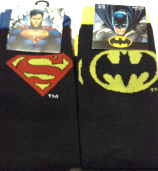 Superman och Batman strumpor 2pack