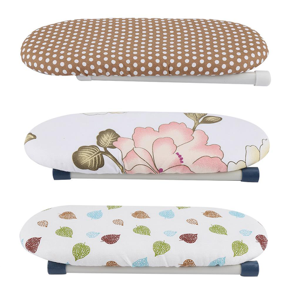 Foldable space-saving mini ironing board home travel sleeve