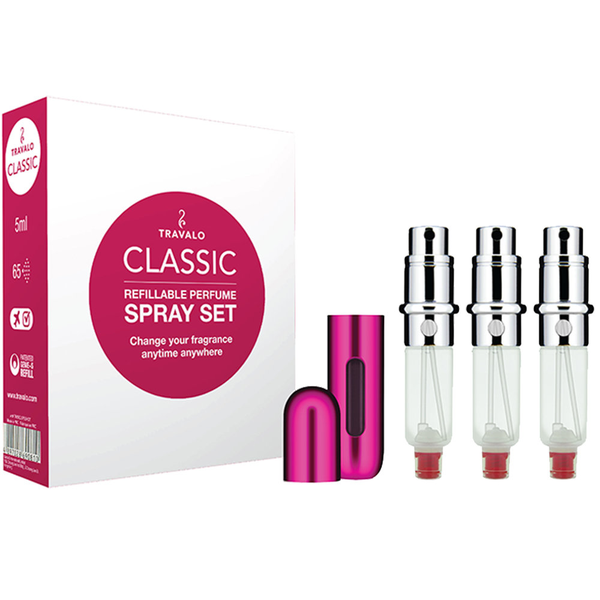 Travalo classic hd refillable perfume spray set of 3 pink