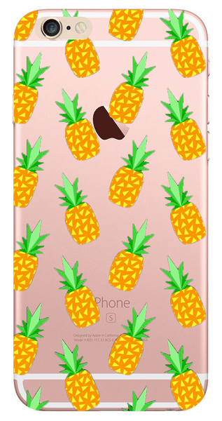 Köp iphone 6   6S transparent mobilskal skal - Ananas pineapple fb1d92fae396a