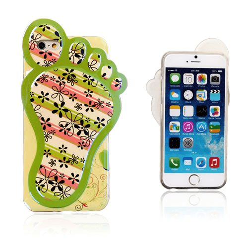 3d foot (blomster & ränder) iphone 6 skal