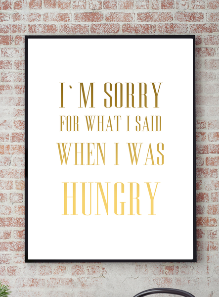 Poster Poster Poster - I´m sorry No.3 40x50cm 64d254