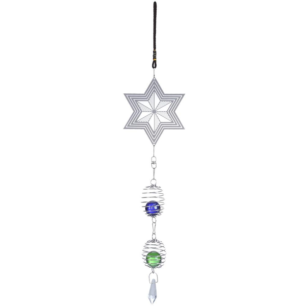 Cute wind chimes metal music spiral crystal ball wind chime