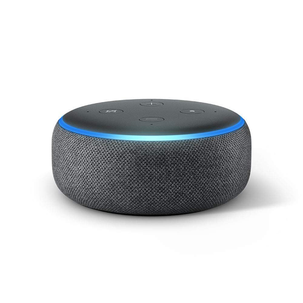Amazon echo dot (3rd gen) smart speaker w/ alexa charcoal fabric