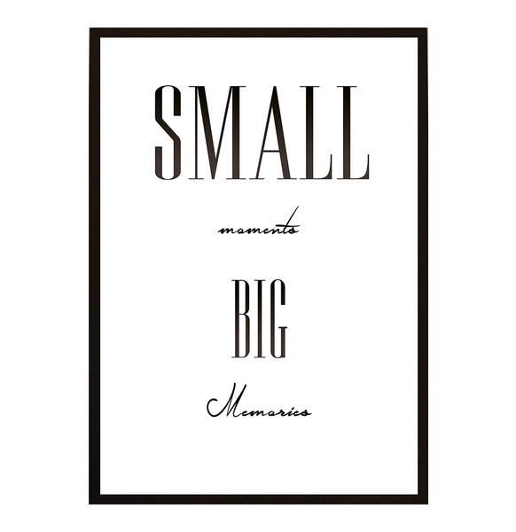 Poster Big - Small moments Big Poster memories No.7 30x40cm 63c779