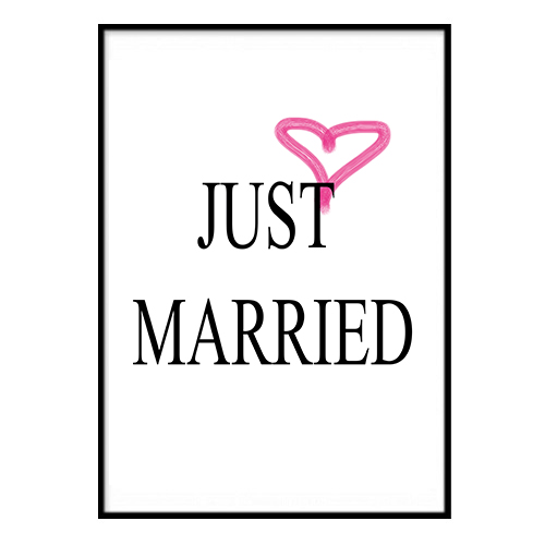 Poster - JUST MARRIED A3 30x40cm