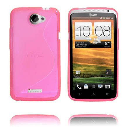 S-line transparent (het rosa) htc one x skal