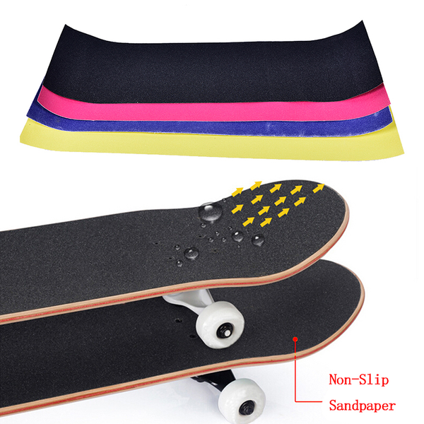 1pc waterproof sandpaper skateboard deck grip tape griptape skat
