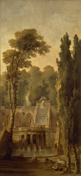 Landscape with Terrace and Cascade,Hubert Robert,80x40cm Robert,80x40cm Robert,80x40cm 497707