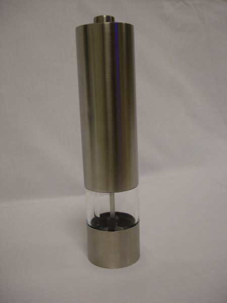Electronic automatic pepper mill with led light grinder crusher