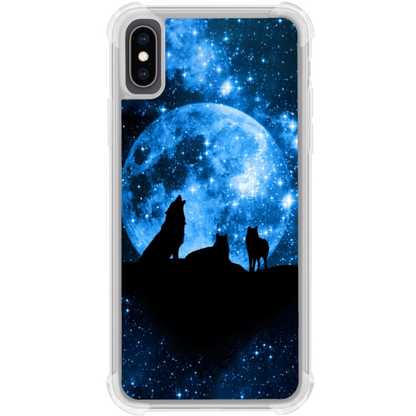 Apple iphone xs max tough case moon wolves