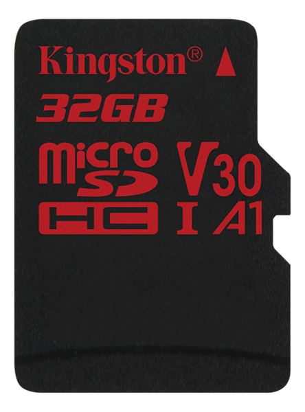 Kingston 32gb microsdhc canvas react 100/70 u3 uhs-i v30 a1 w/o