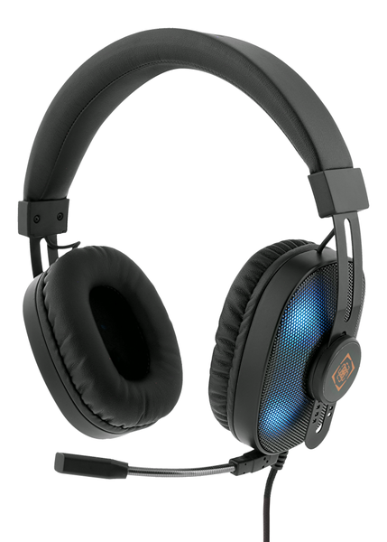 Deltaco gaming stereo headset running rgb 2 x 3.5 mm