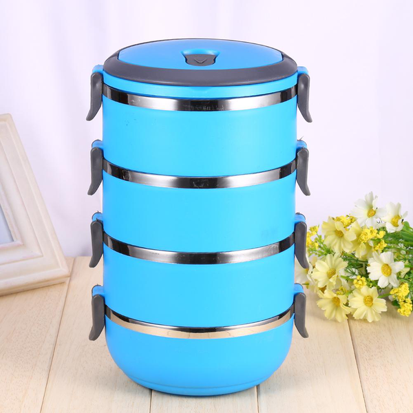 Round 1/2/3/4layer durable stainless steel lunch box bento