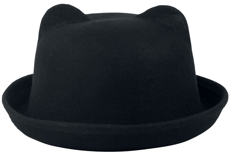 Heartless kitty bowler hat one size