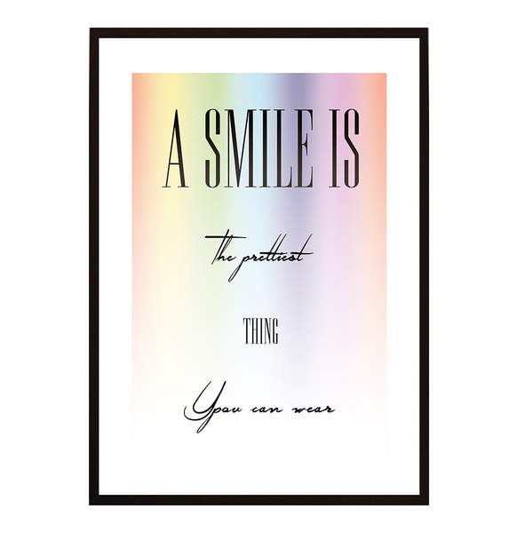 Poster - A smile is the prettiest no.9 21x30cm