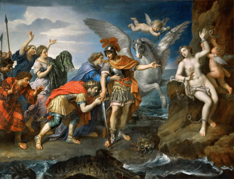 Perseus and and and Andromeda,Pierre Mignard,50x40cm a077bf
