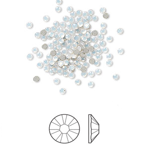 Swarovski flat back strass 1.7-1.9mm white opal 10-pack