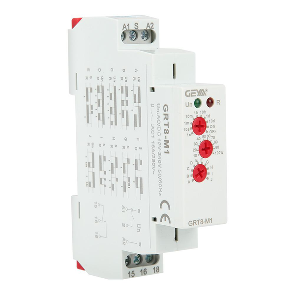 Grt8-m1 multifunctional delay time relay with 10 functions d
