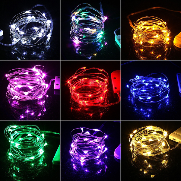 2m christmas lights waterproof copper mini fairy light chai