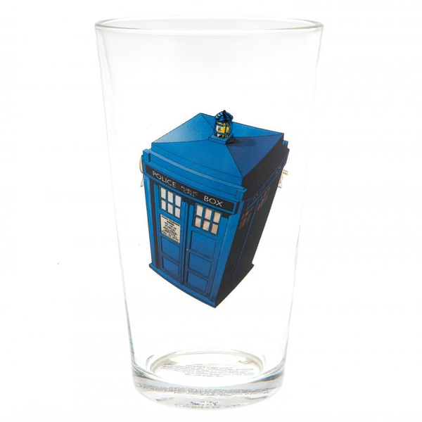 Doctor who large glass blue utta4285