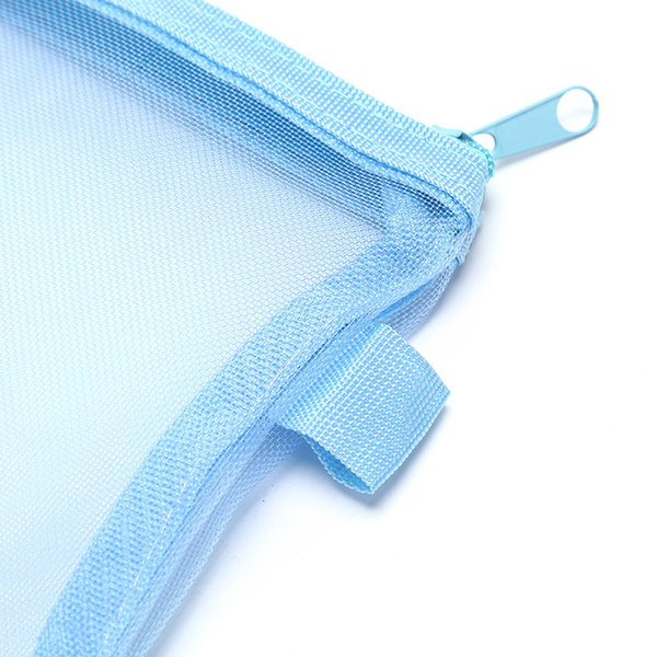 Clear exam pencil case transparent simple mesh zipper stationery