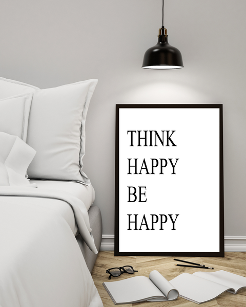 Poster Poster Poster - Think happy be happy 21x30cm 4bd727