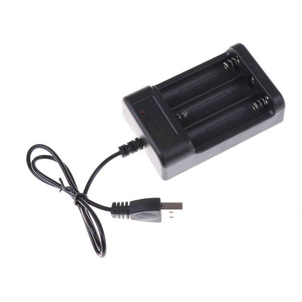 Black usb battery charger aa 3ports battery charger charger toy