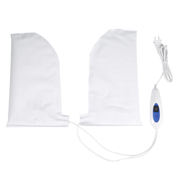 Therapeutic heated mitts for paraffin wax therapy manicure s