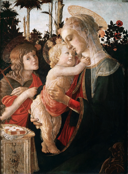 Madonna of the Rose Garden or Madonna,Sandro Botticelli,50x40cm
