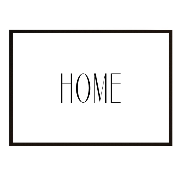 Poster - HOME 21x30cm