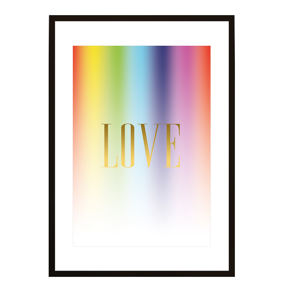 Poster - LOVE Rainbow No.2 21x30cm