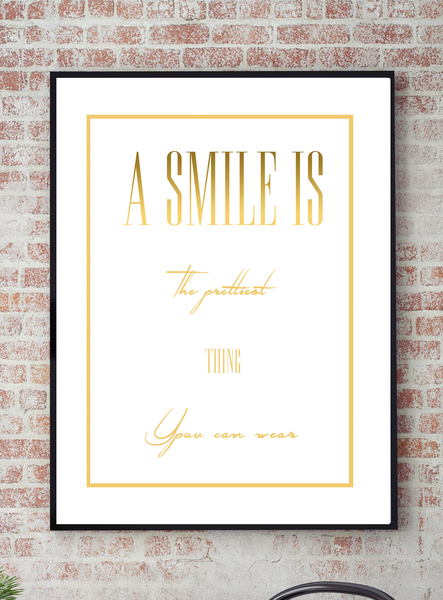 Poster - - - A smile is the prettiest no.2 30x40cm f69f8d