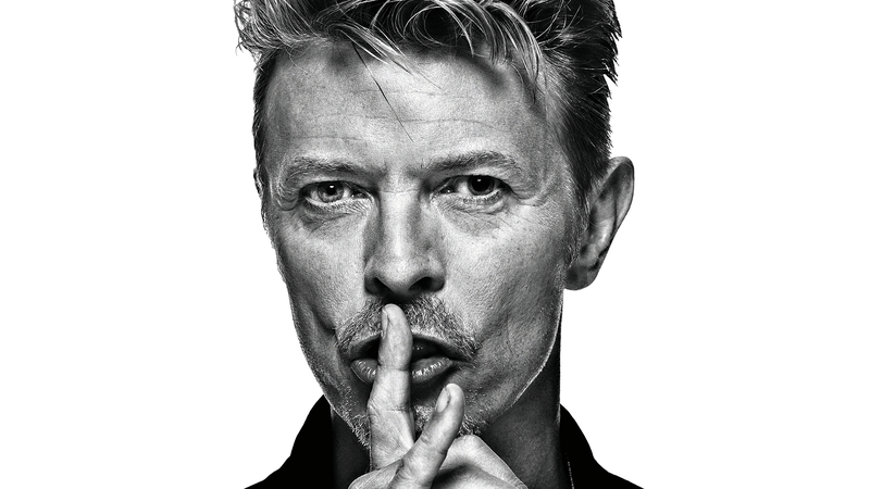 Poster david bowie stor 100x100cm