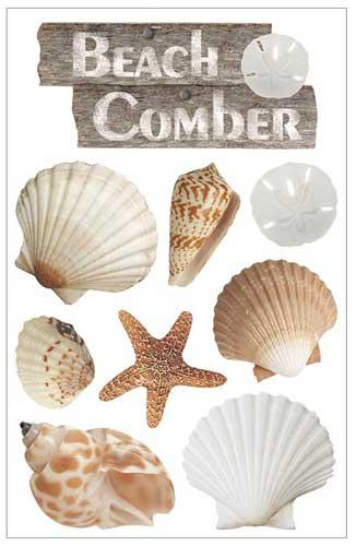 3d stickers – beach comber – paper house