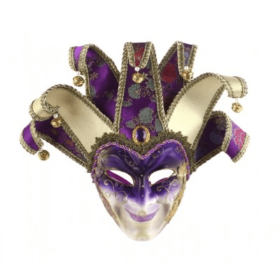 Lila joker mask