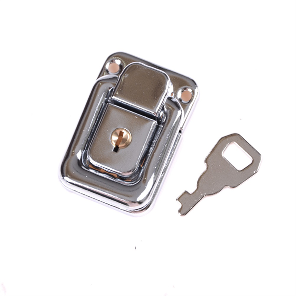 J402 cabinet box square lock with key spring latch catch toggle